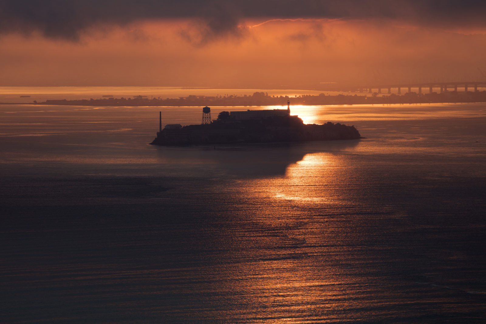Sunrise over Alcatraz