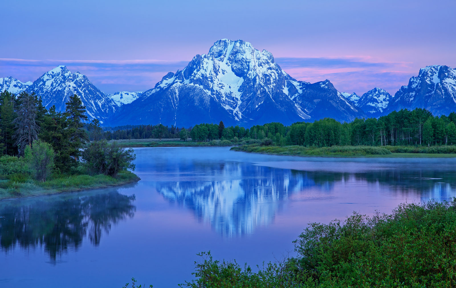 Mount Moran at dawn
