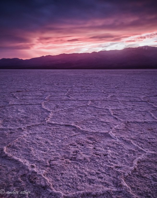 Bad weather at badwater basin
