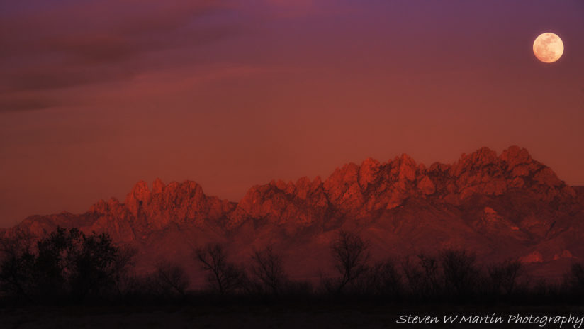 Moon over the Organ Mountains