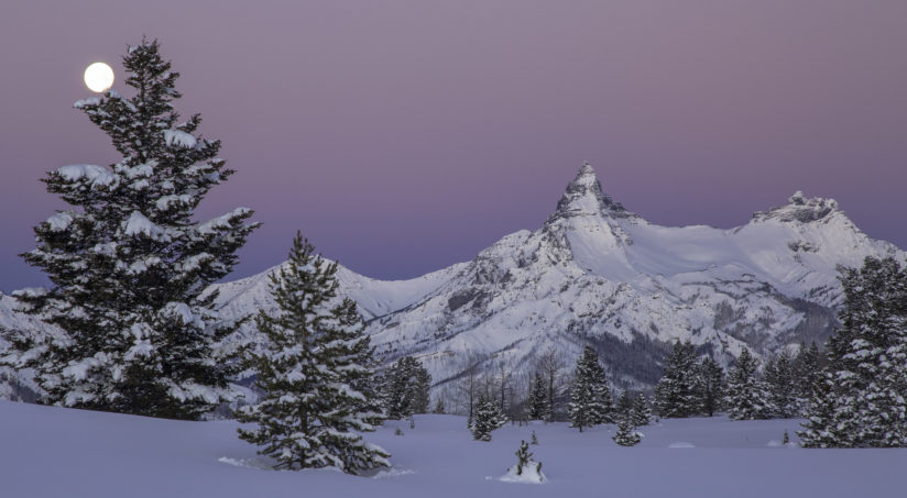 Pilot Peak Full Moon