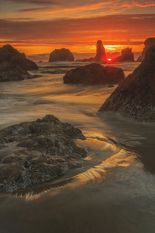 Brilliant Sunset at Bandon Beach