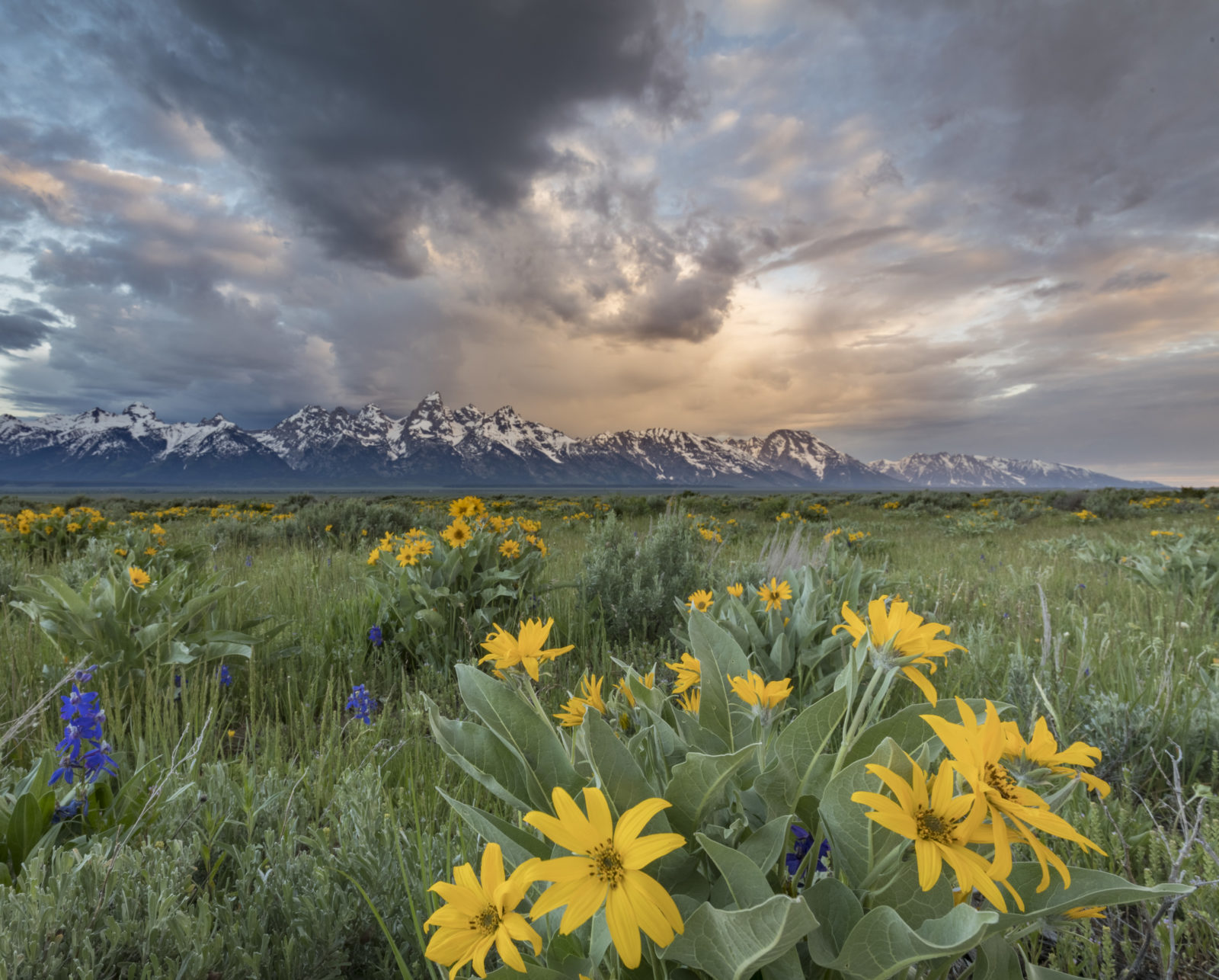 Clearing storm over the Tetons