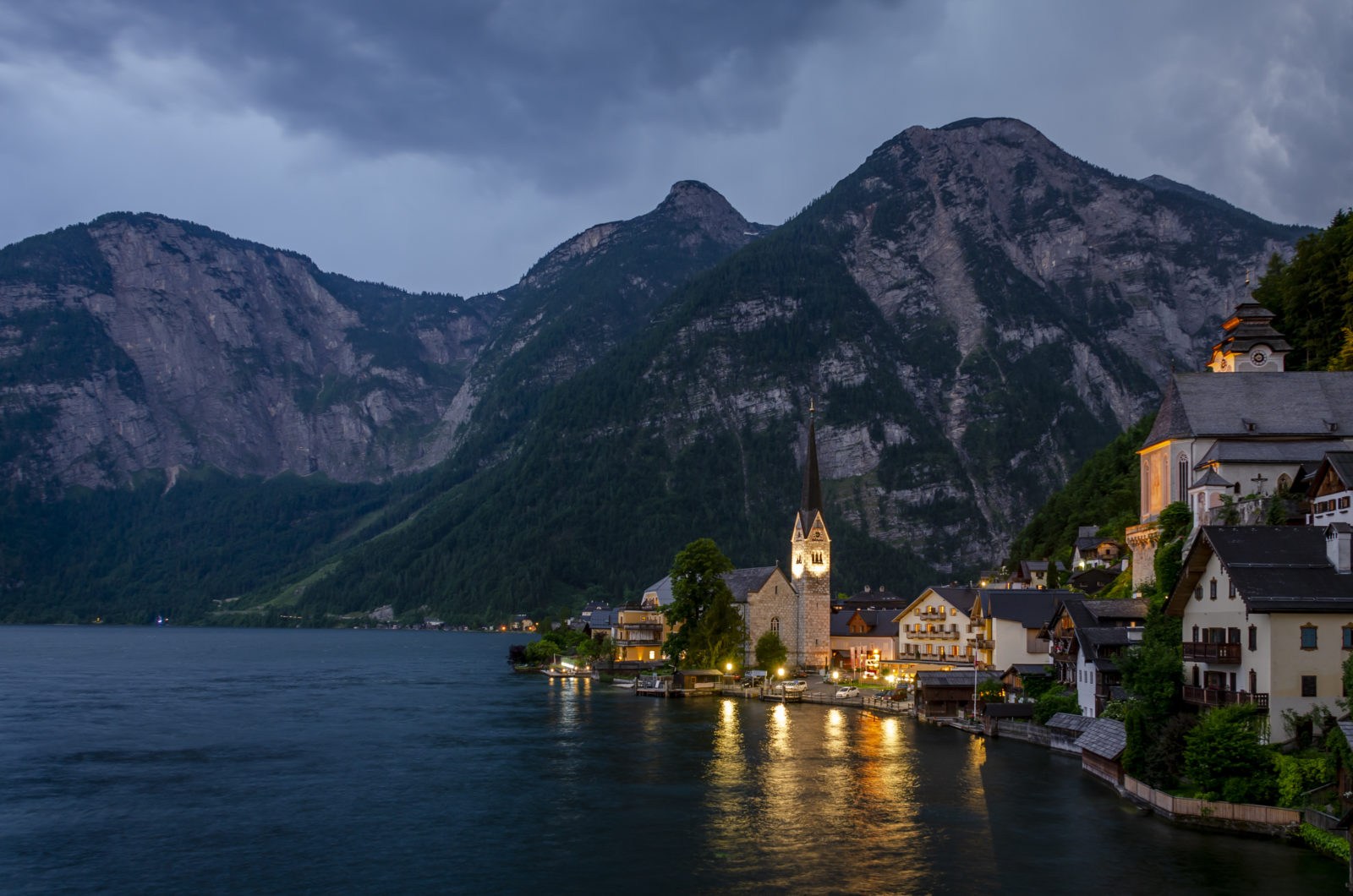 Twilight in Hallstatt