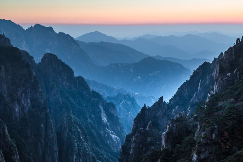 Twilight at Xihai Canyon
