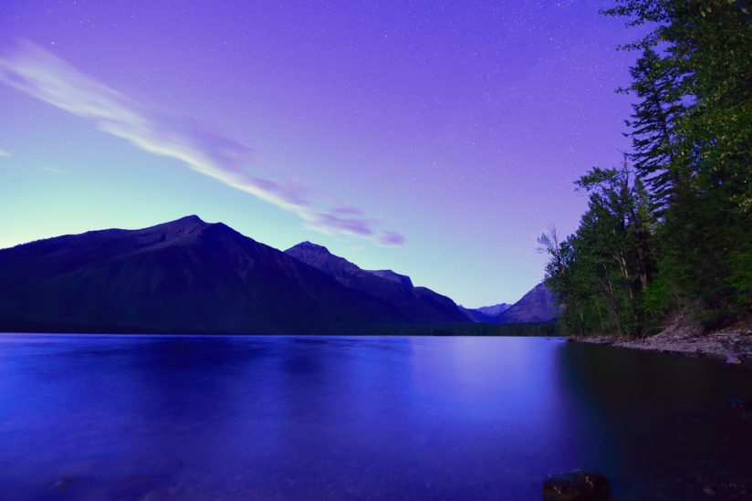 Twilight Over Lake McDonald