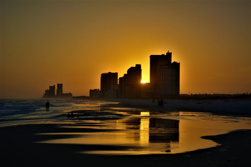 Sunset along Gulf Shores
