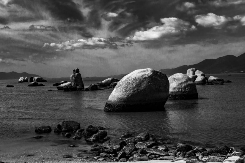 Rocks on the coast of Santa Catarina Island