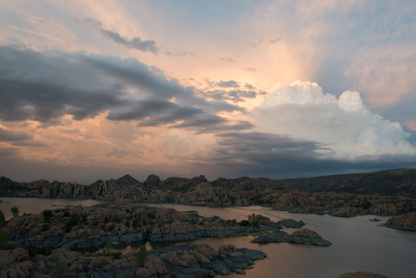 Watson Lake with storm coming in