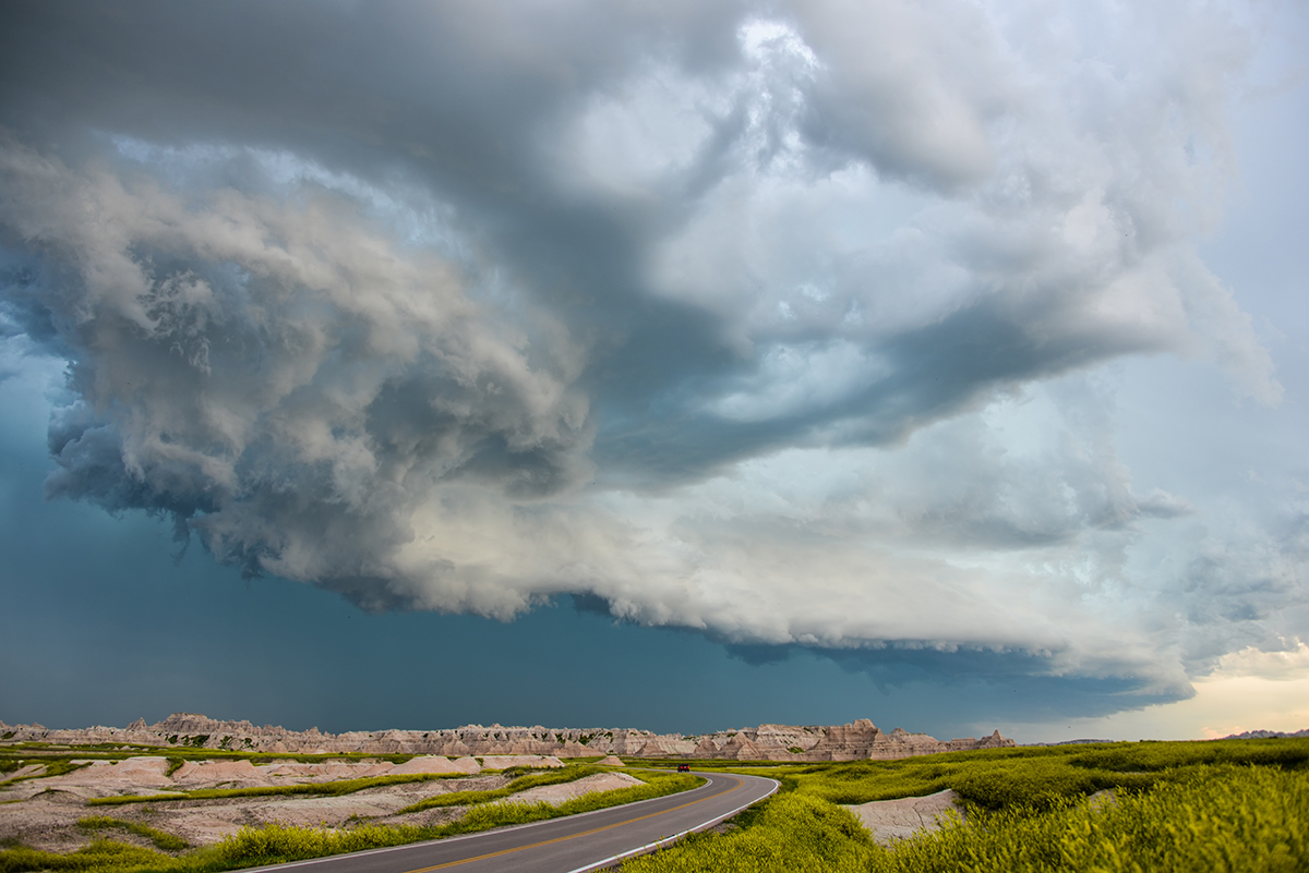 Storm Cell over the Badlands