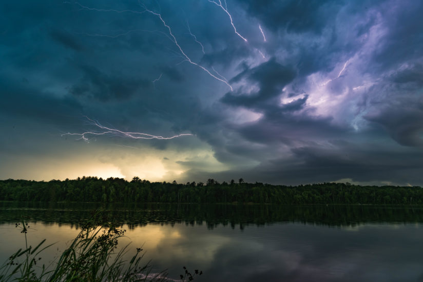 Storm Over McNaughton Lake