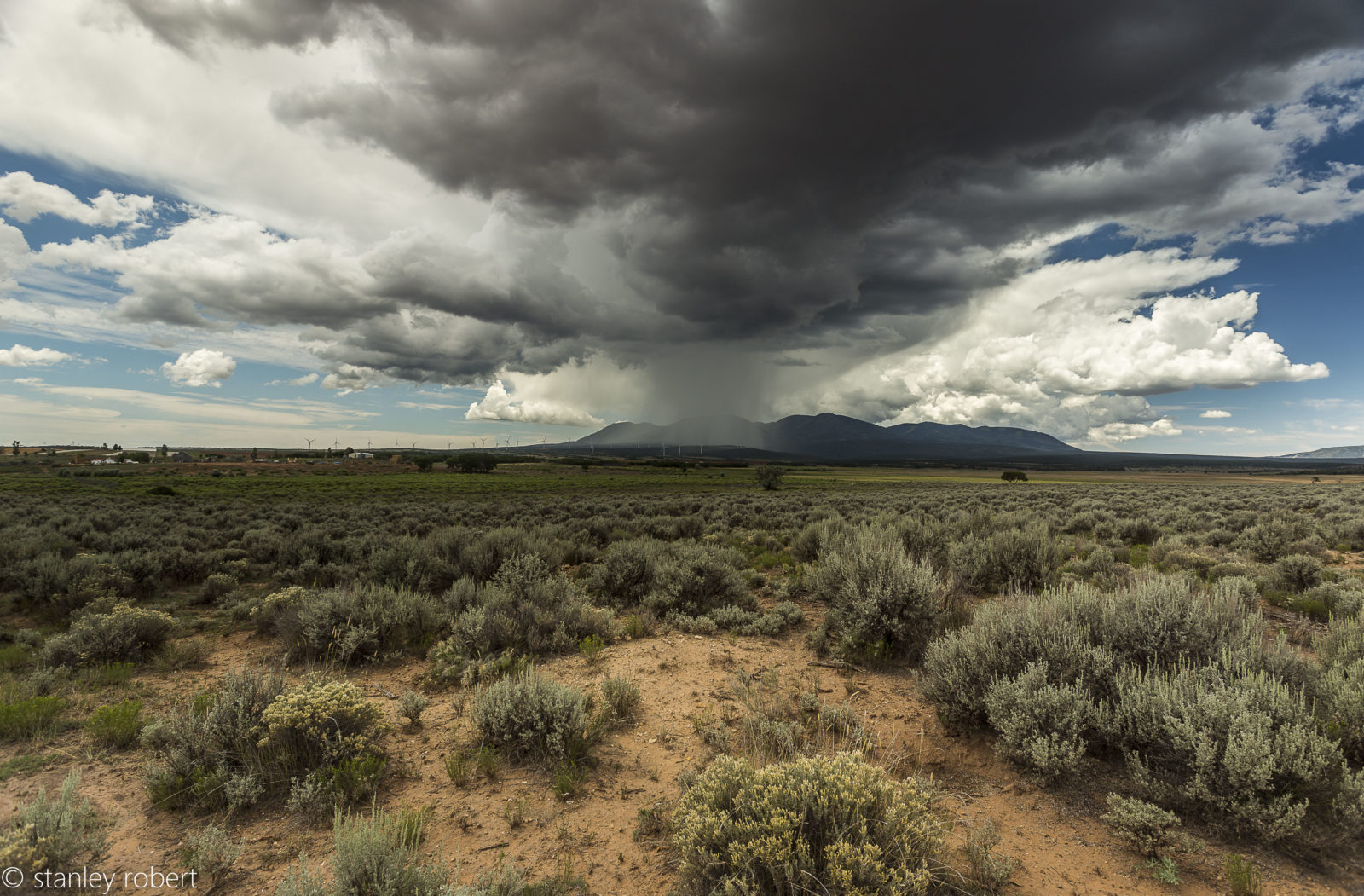 Storm clouds by Arches National Park