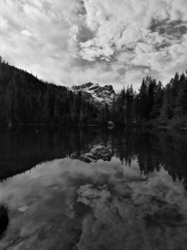 Sierra Buttes in Black and White