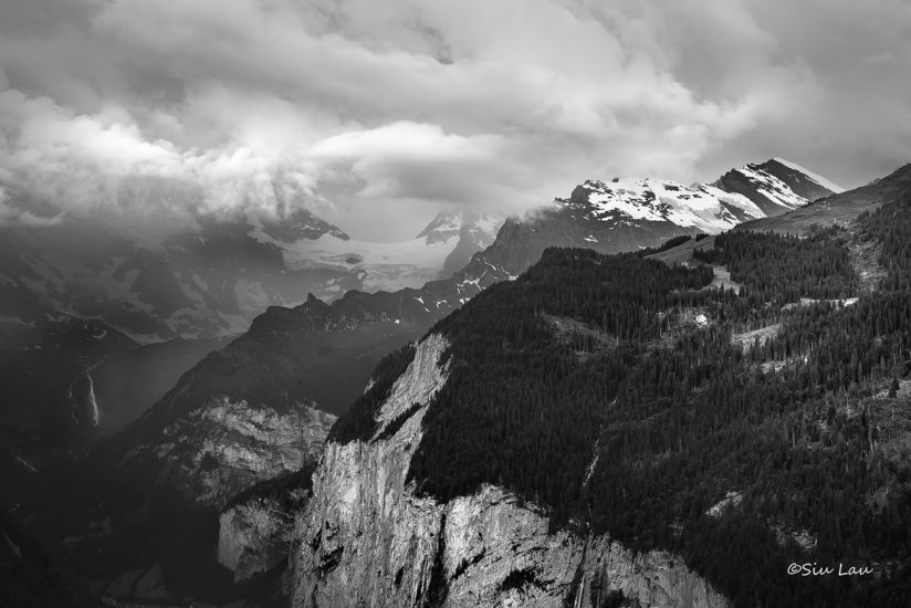 Storm at Lauterbrunnen valley