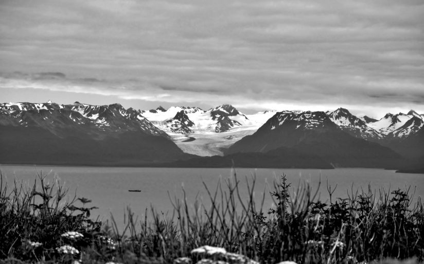 Homer Alaska on a cloudy day