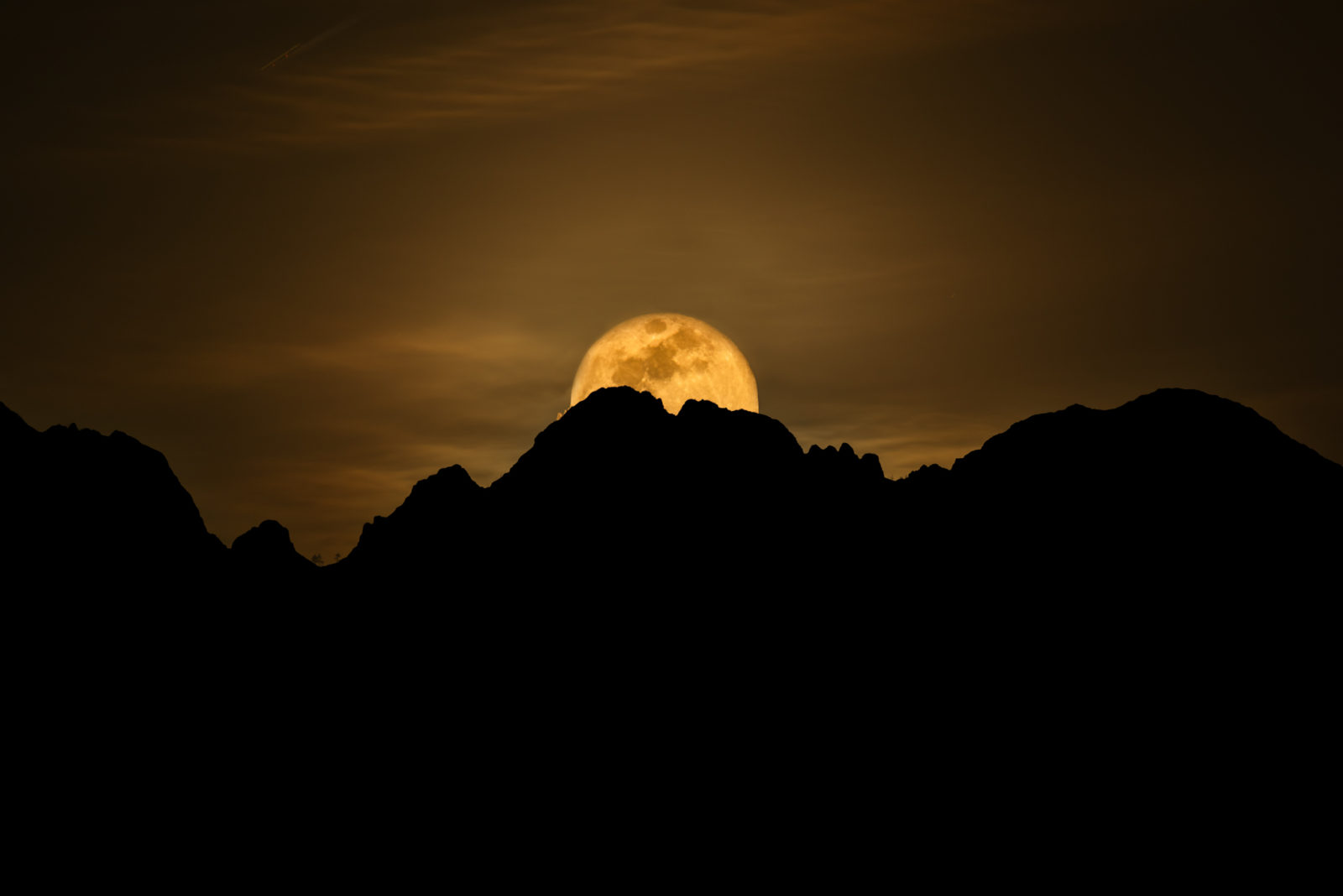 Moonrise over the Four Peaks Wilderness