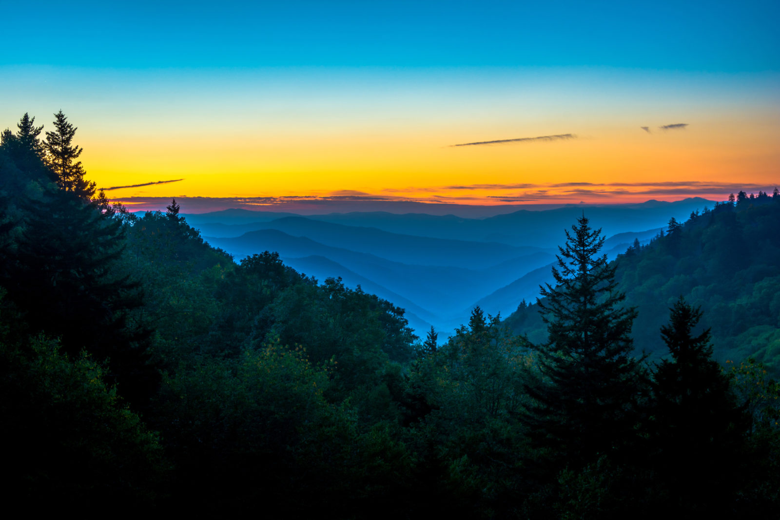 Sunrise at Newfound Gap