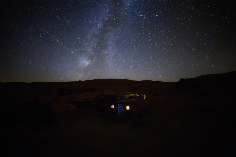 Milky Way and Old Car