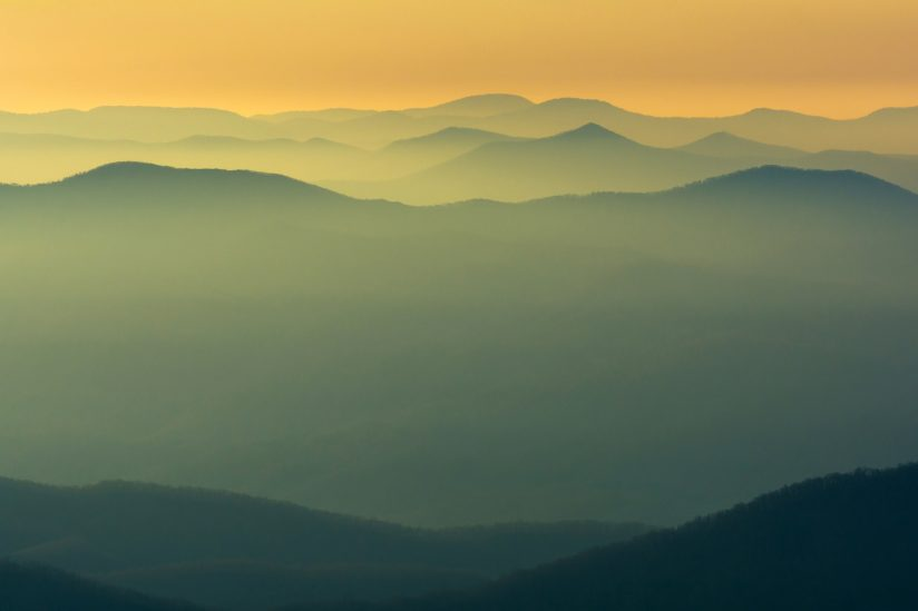 Sunrise in the Smoky's