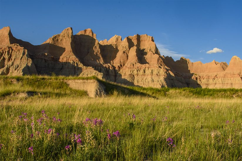 Evening Shadows in Badlands National Park