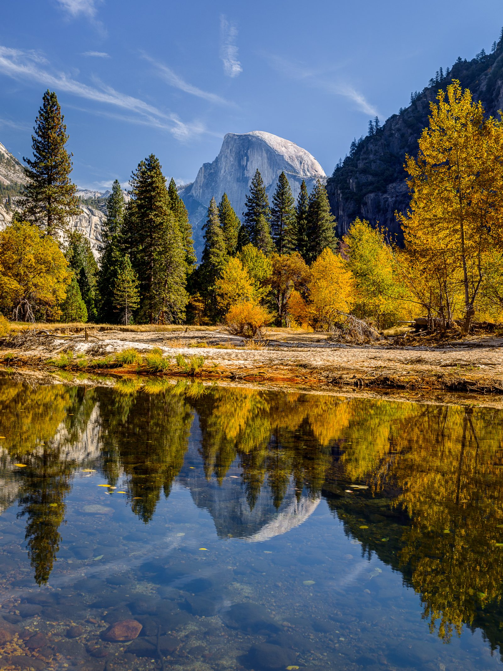 Half Dome and Fall Colors in Yosemite Valley