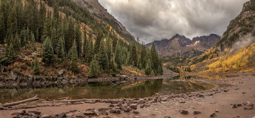 Maroon Bells between the rain