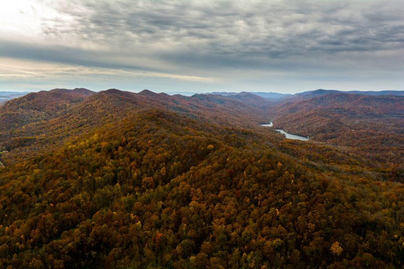 Cloudy Autumn Day in the Cumberland Gap