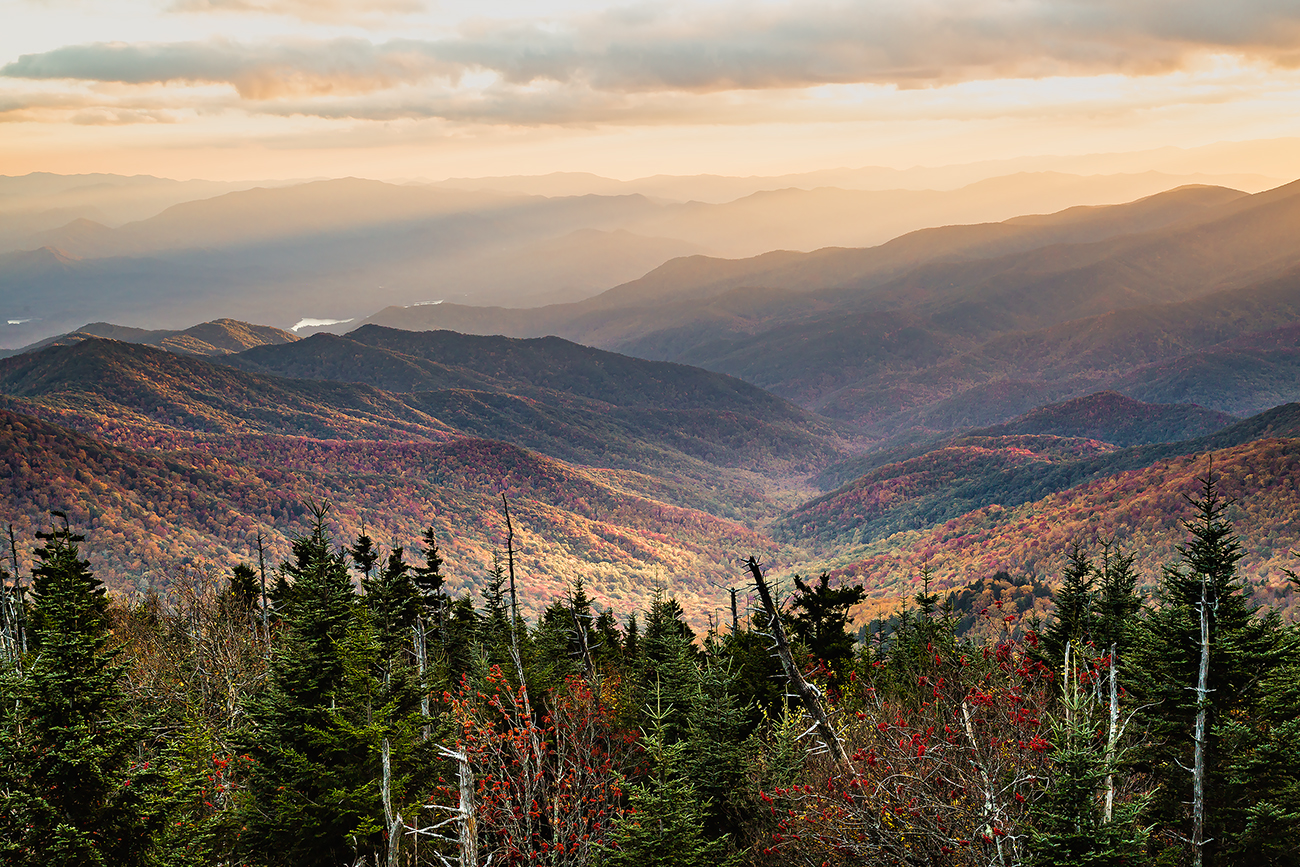 Sunset at Great Smoky Mountains