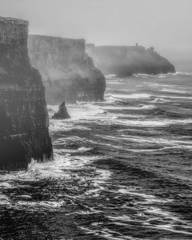 Cliffs of Moher on a Foggy Day