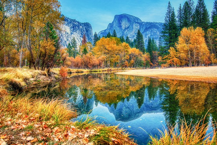 Fall Reflections – Half Dome Yosemite National Park