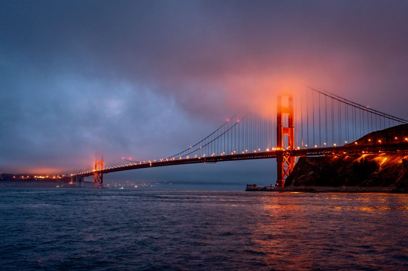The Golden Gate Bridge at Twilight