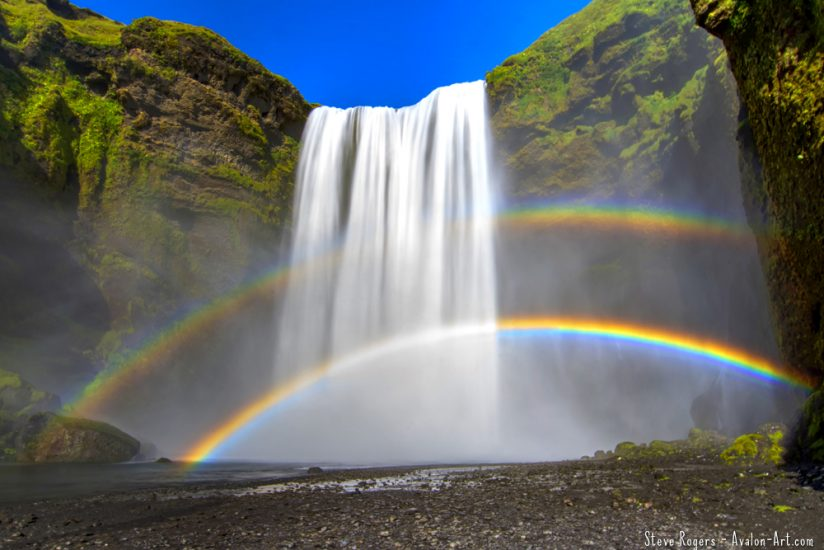 Skógafoss and Rainbow