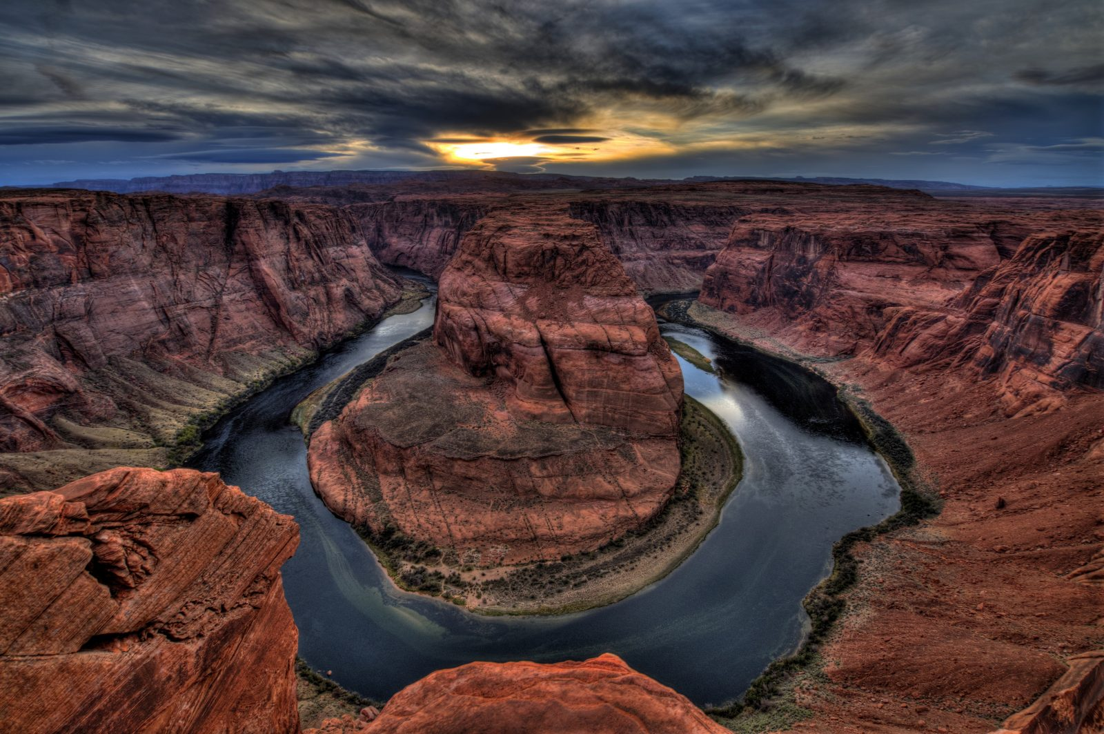 The Day's End At Horseshoe Bend