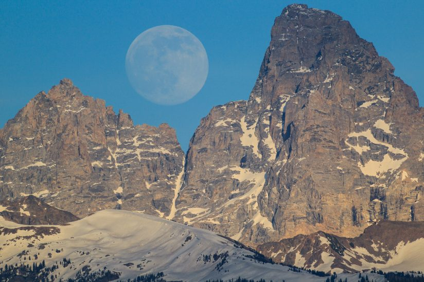 Moon Rise In Teton Valley
