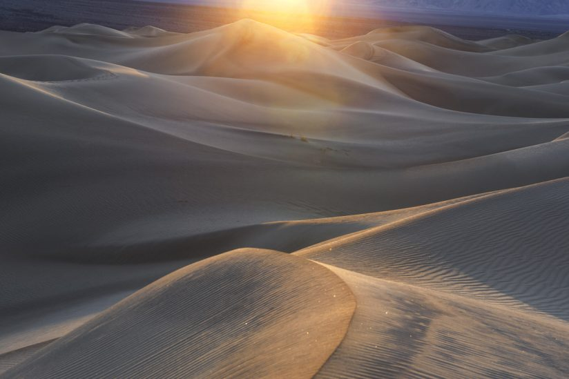Sunset on the Mesquite Dunes