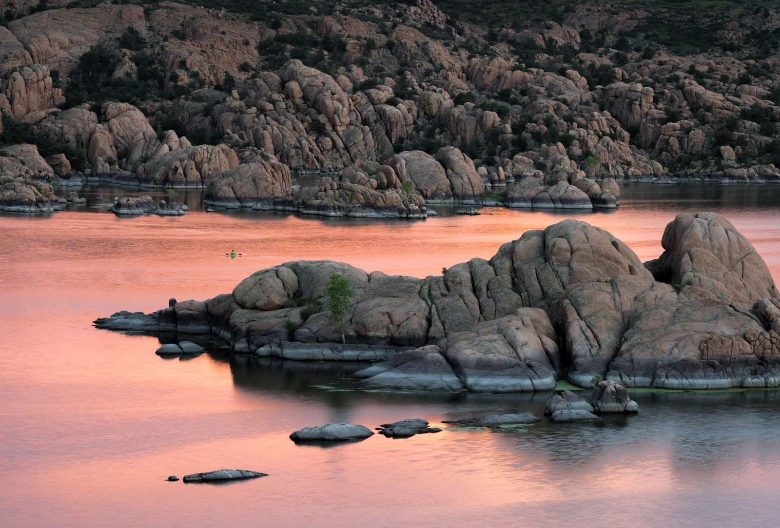 Kayaker in the pink