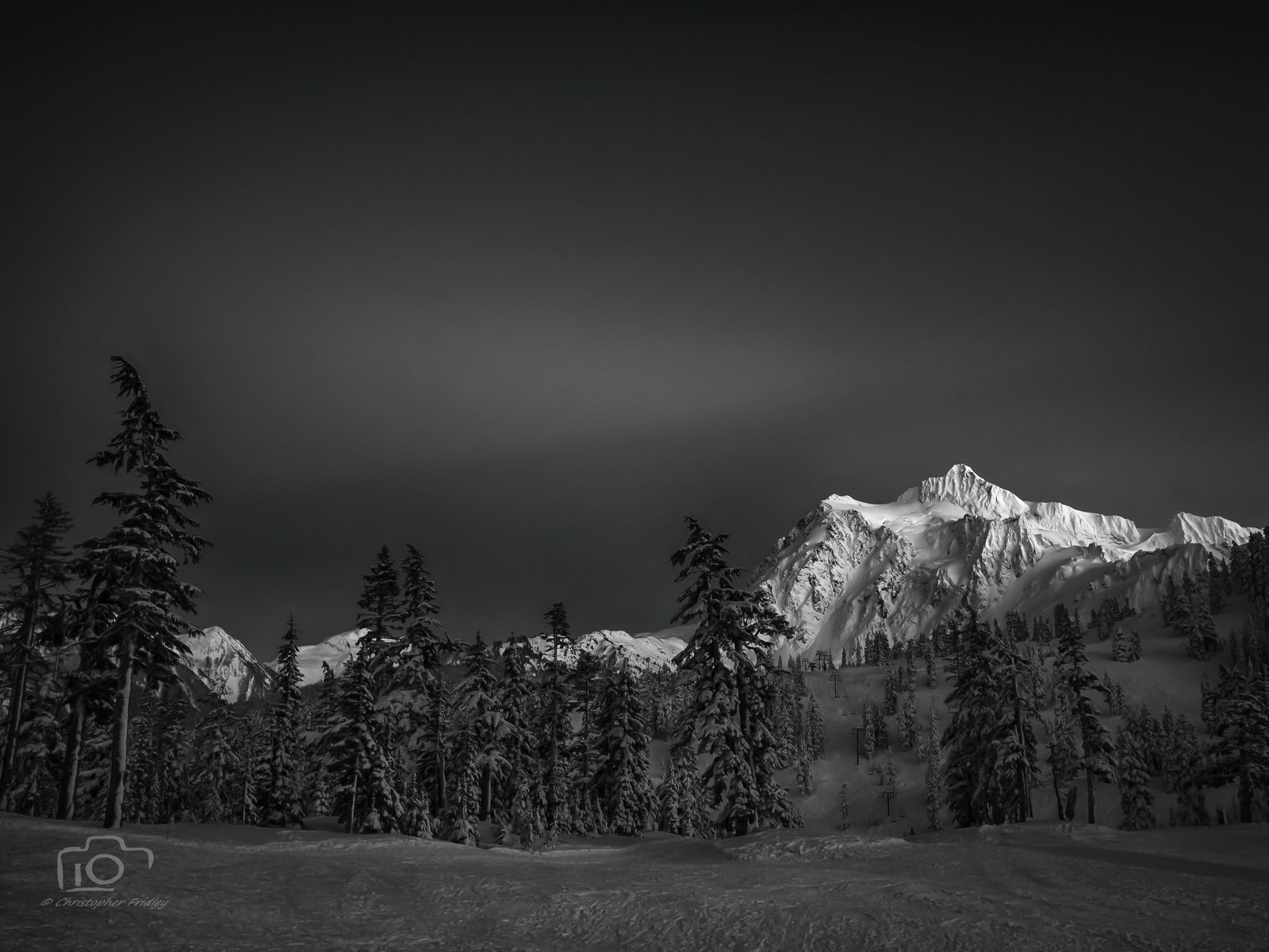 Sunset Shuksan monochrome