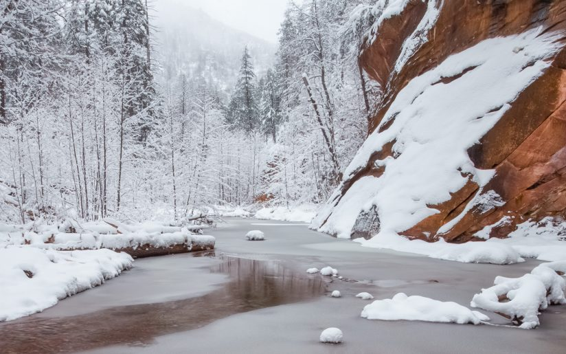 Wintery Oak Creek Canyon