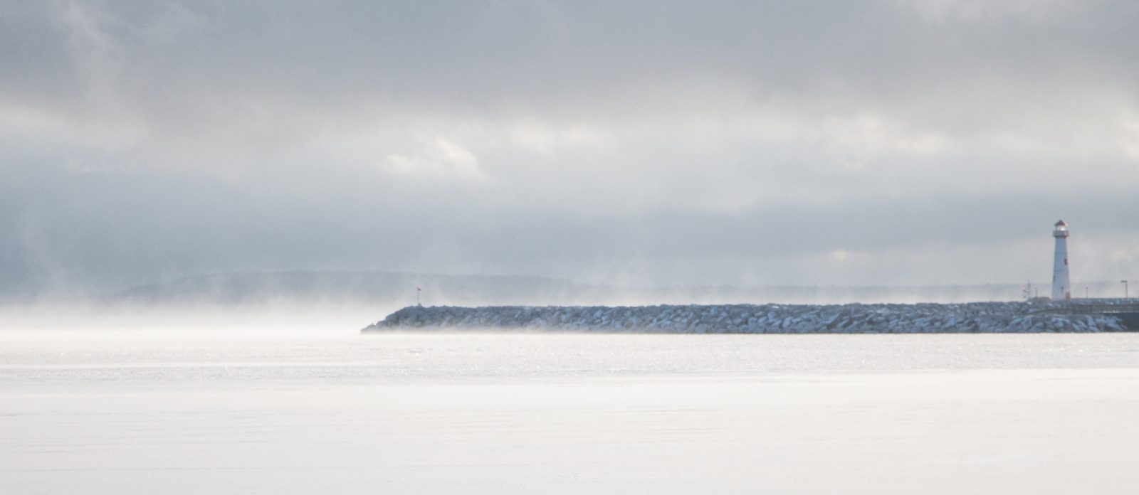 Icy Mist on Lake Huron
