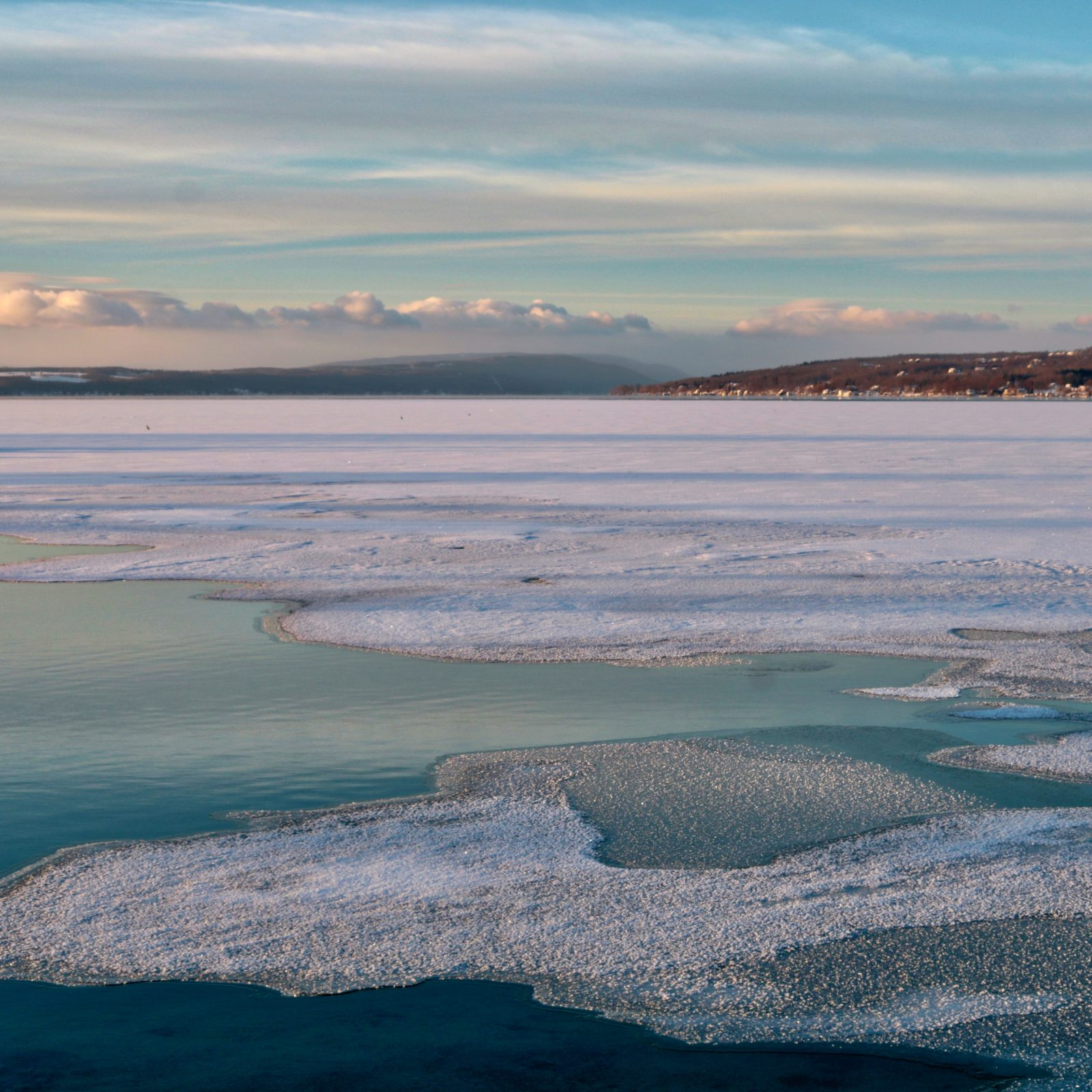 Distant Snowstorm over Canandaigua Lake