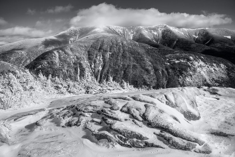 Franconia Ridge Clearing Winter Storm