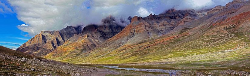 Panoramic view of Gangdise range, Tibet