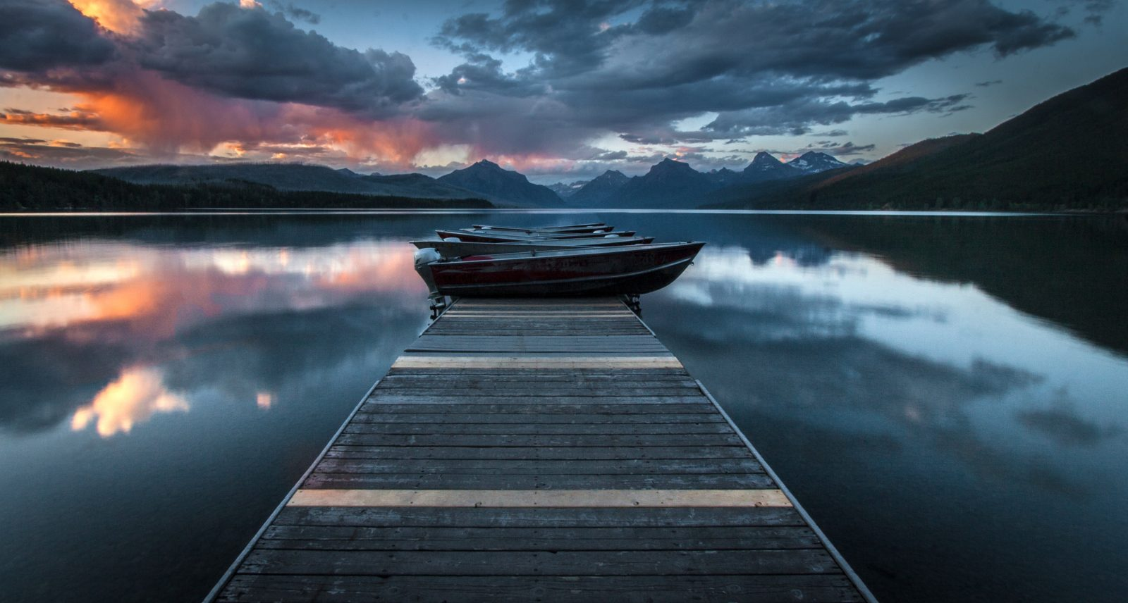 Sunset on Lake McDonald