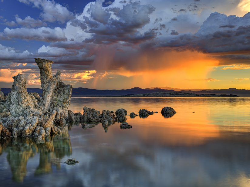 Sunrise Storm Cloud Over Mono Lake