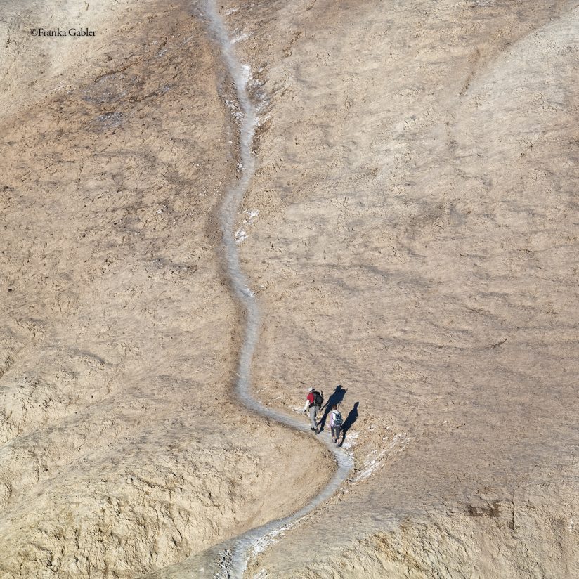 Two Hikers, Golden Canyon, Death Valley