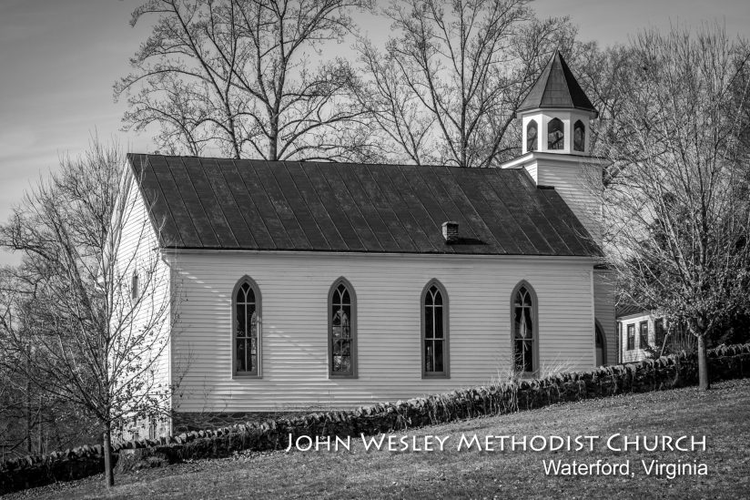 Country Church in Black and White