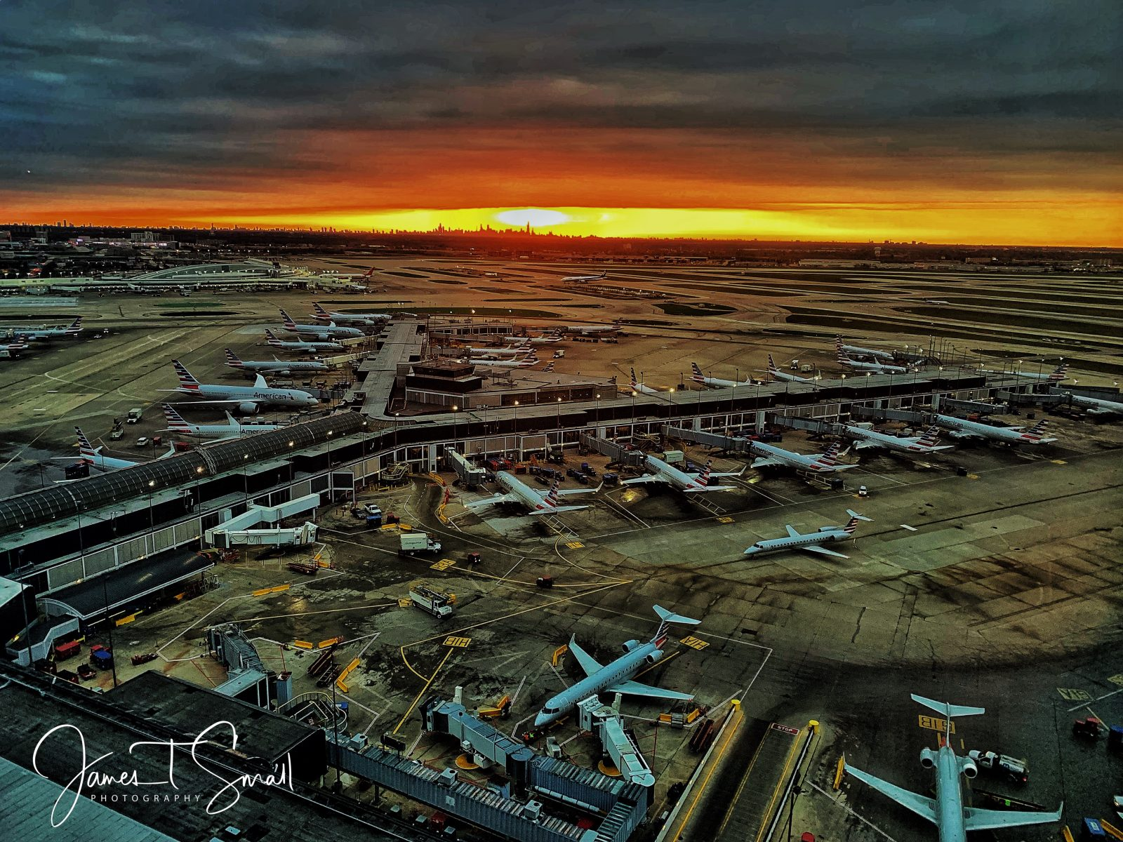 Sunrise over O'Hare