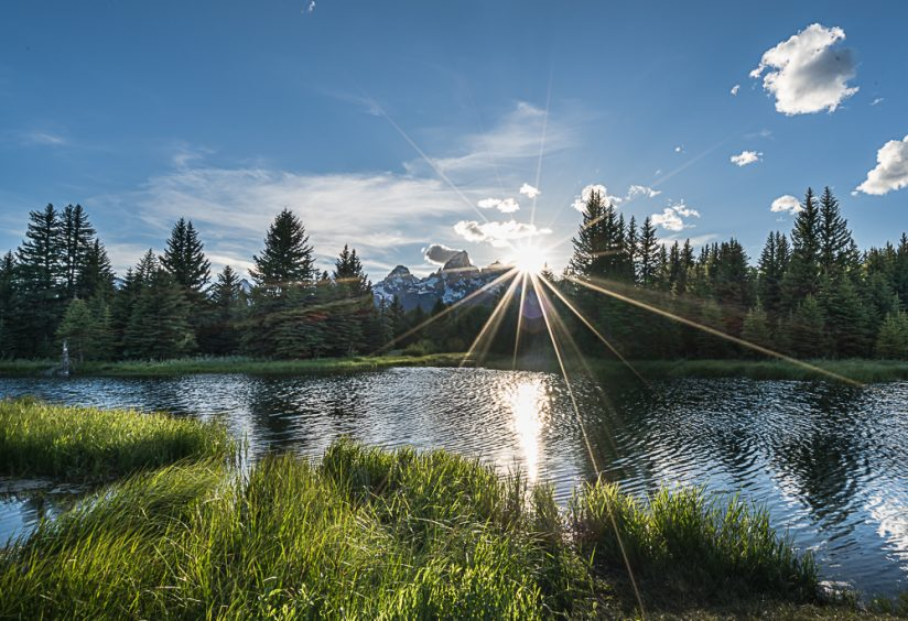 Sunset at Schwabacher's Landing