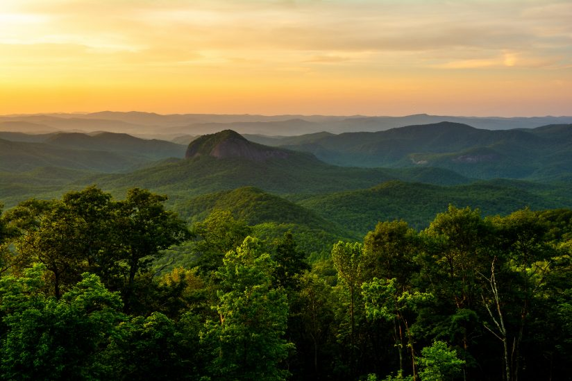 Golden Hour at Looking Glass Rock