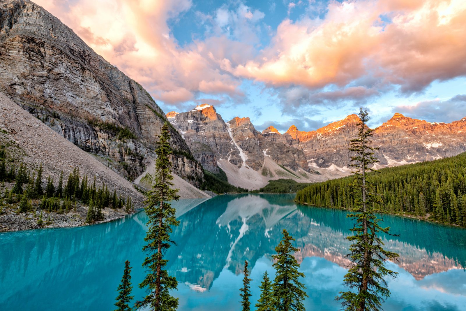 Lake Moraine Summer Sunrise